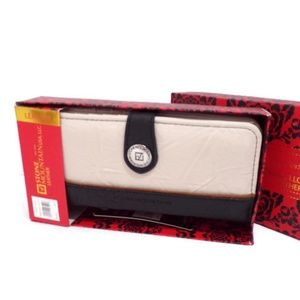 Leather Ladies Wallet With Gift Box Bone WA1535